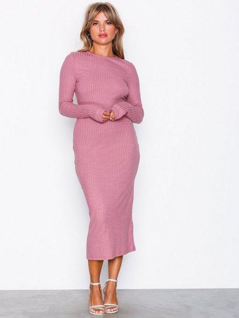 LS Rib Midi Dress