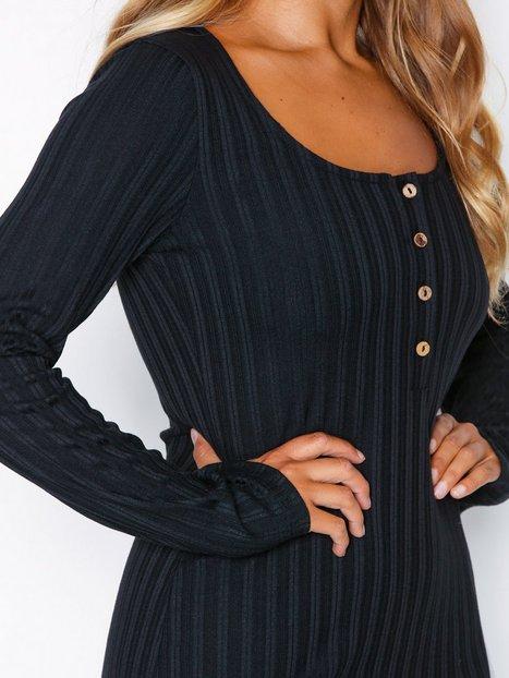 Button Rib LS Dress