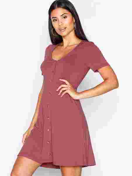 dda97c3a Kvinne Lined A Burgundy Trend Klær Nly Button Kjoler Dress Px8qzT