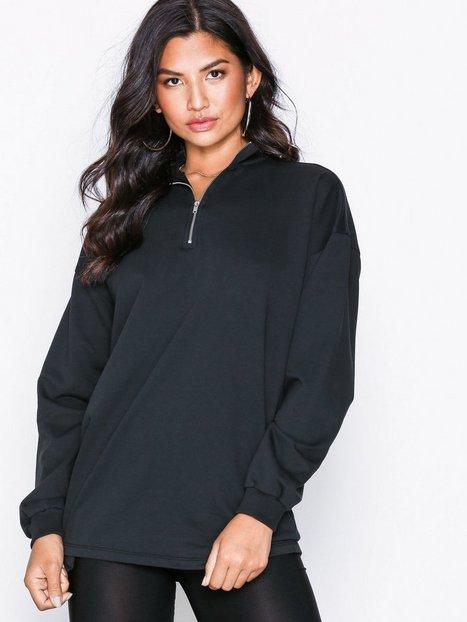 Billede af NLY Trend Oversize Zip Sweat Sweatshirts Sort