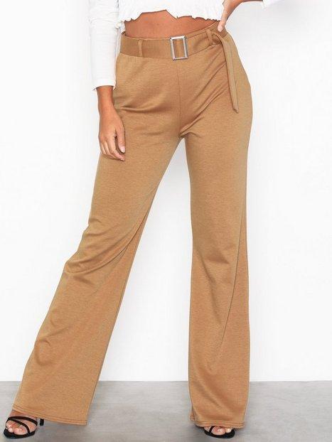 Billede af NLY Trend Belted Wide Pants Bukser & Shorts Beige
