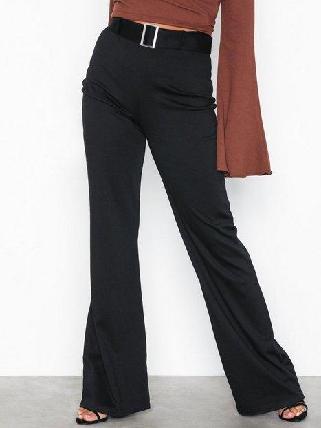 Billede af NLY Trend Belted Wide Pants Bukser Sort