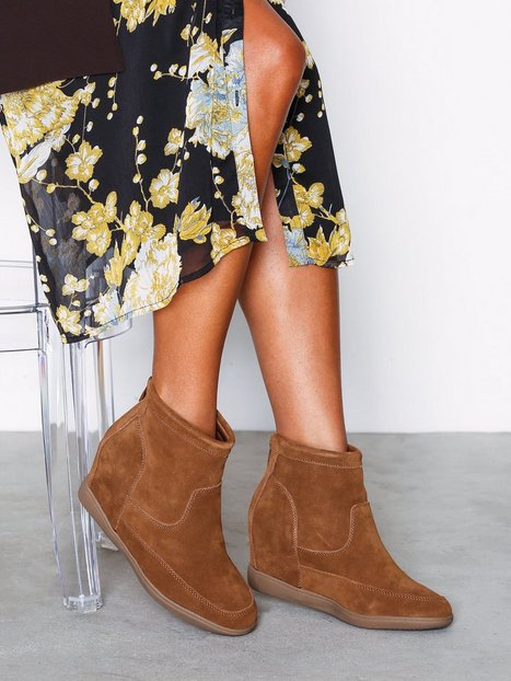 Billede af Duffy Leather Boot Wedge Cognac