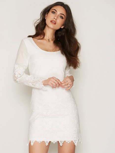 Billede af Dry Lake Day Dreaming Sleeve Dress Kropsnære kjoler White