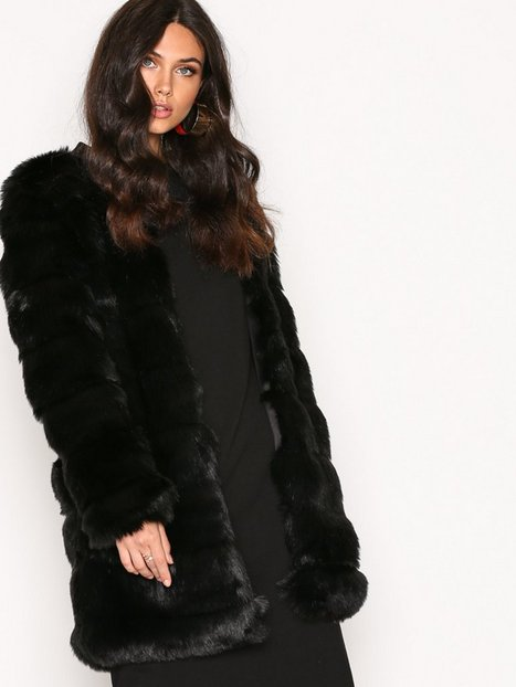Billede af Dry Lake Cozy Long Jacket Faux Fur Black