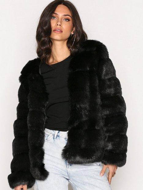 Billede af Dry Lake Cozy V Jacket Faux Fur Black