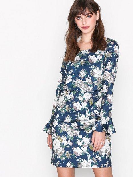 Billede af Dry Lake Bella Dress Kropsnære kjoler Blue Flower