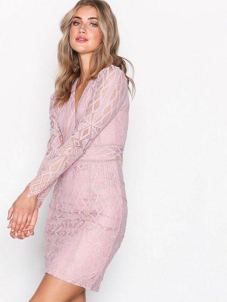 Billede af Dry Lake Miranda Dress Kropsnære kjoler Misty Rose
