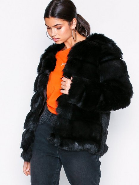 Billede af Dry Lake Cozy Bubble Mid Jacket Faux Fur Black