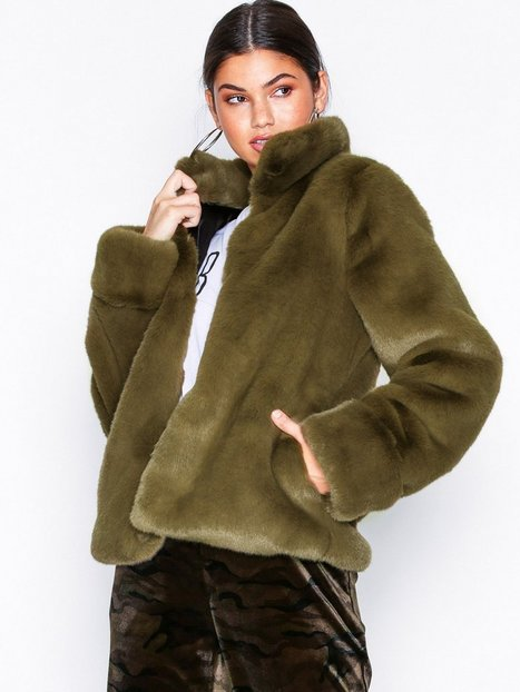 Billede af Dry Lake Cozy Collar Jacket Faux Fur Green