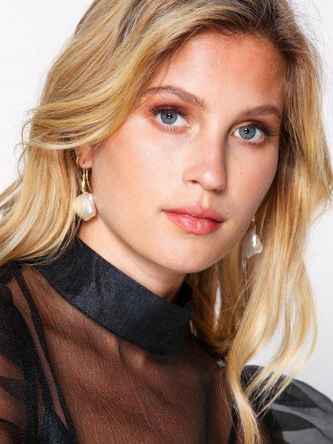 Billede af WOS Big Pearl Earrings Ørering Hvid/gul