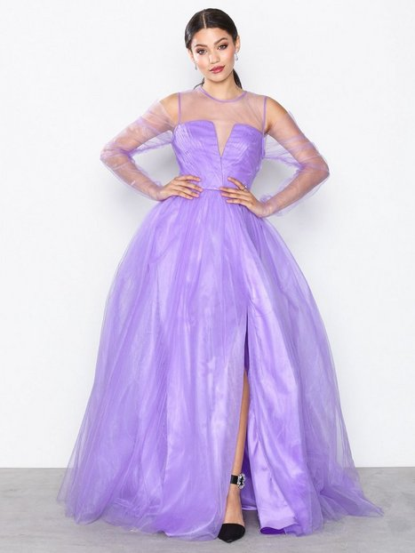 NLY Eve Tulle Mesh Gown Maksimekot Violetti thumbnail