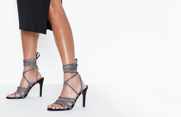 NLY Shoes Platform Bow Boot Heel Sort NLY Shoes Boots til