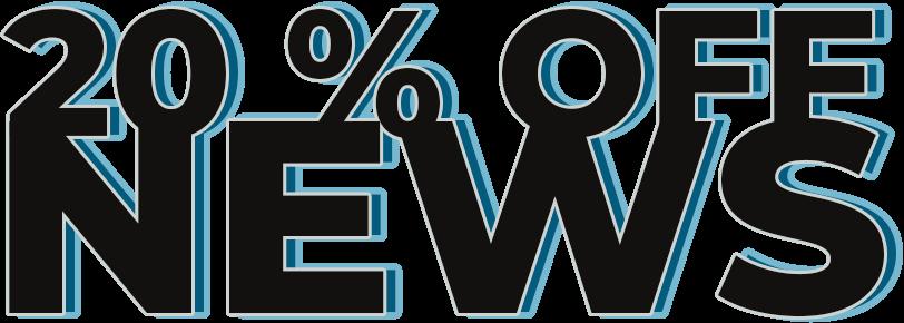 20% off news