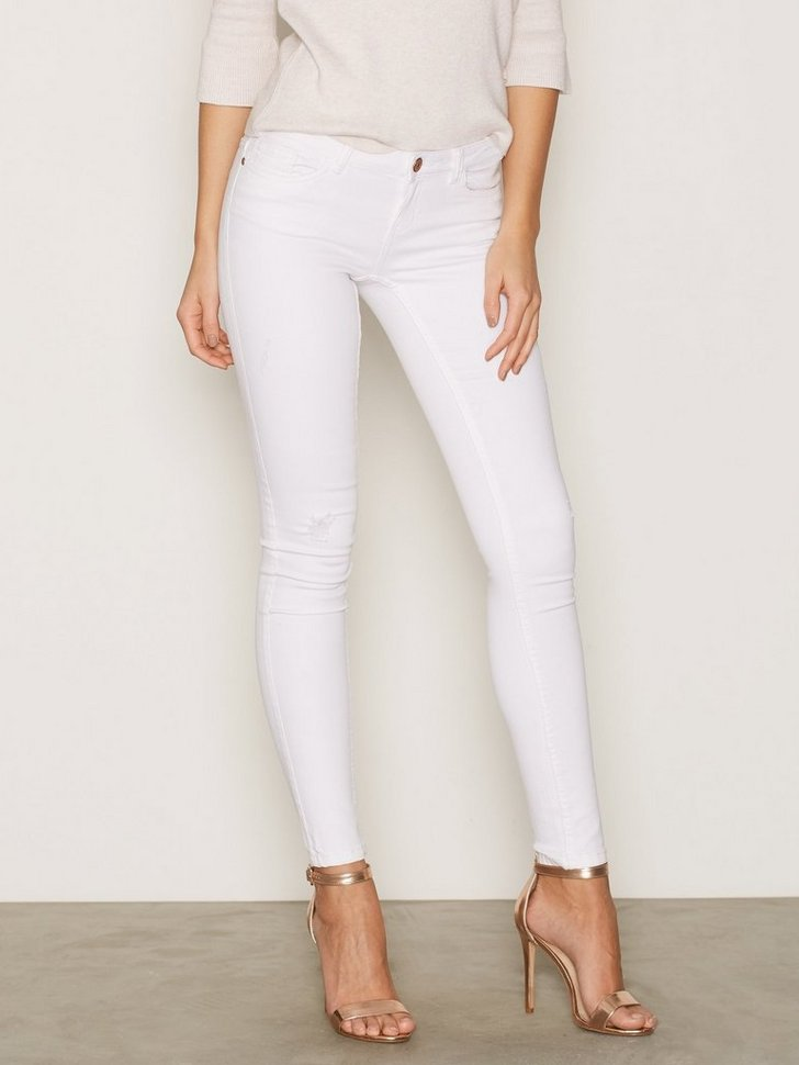 Nelly.com SE - NMEVE LW SS DESTROY JEANS  WHITE NS 359.00