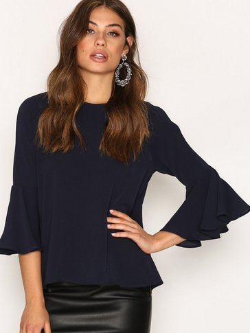 Only - onlMYRINA FLAIRED SOLID 7/8 TOP WVN