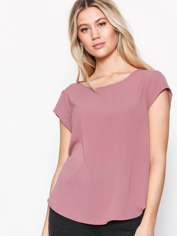 Only - onlVIC S/S SOLID TOP NOOS WVN