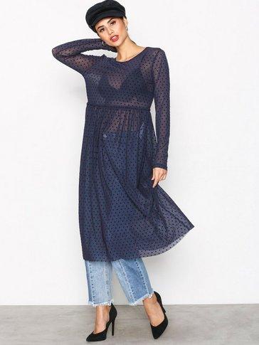 VILA - VIAMPEL L/S DRESS /RX