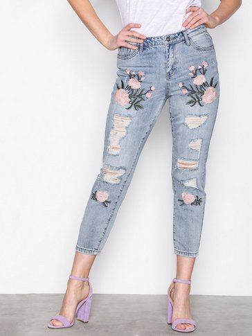 Only - onlTONNI BF EMB DNM JEANS GUABJ1129