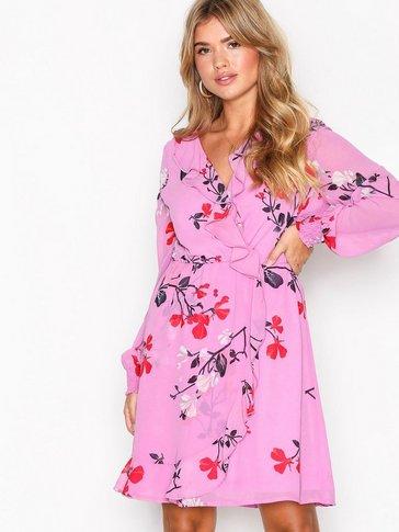 Vero Moda - VMHALLIE FRILL L/S SHORT DRESS FD17
