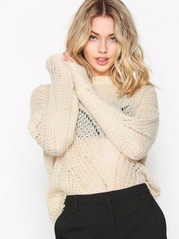 Selected Femme - SFFLORE LS KNIT O-NECK EX