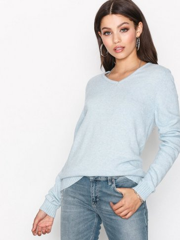 VILA - VIRIL L/S V-NECK KNIT TOP-FAV