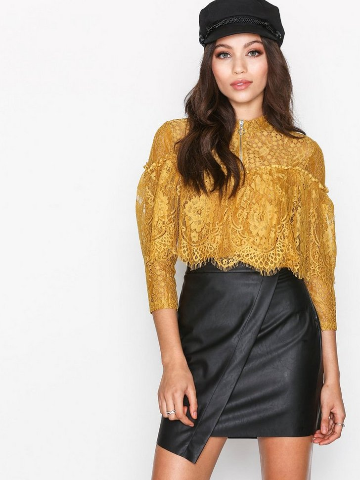 PCALMA FAUX LEATHER SKIRT