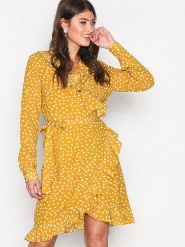 Selected Femme - SFCHANIE LS WRAP DRESS RT