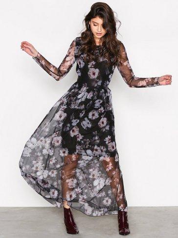 Selected Femme - SFSUNNA LS MESH DRESS EX