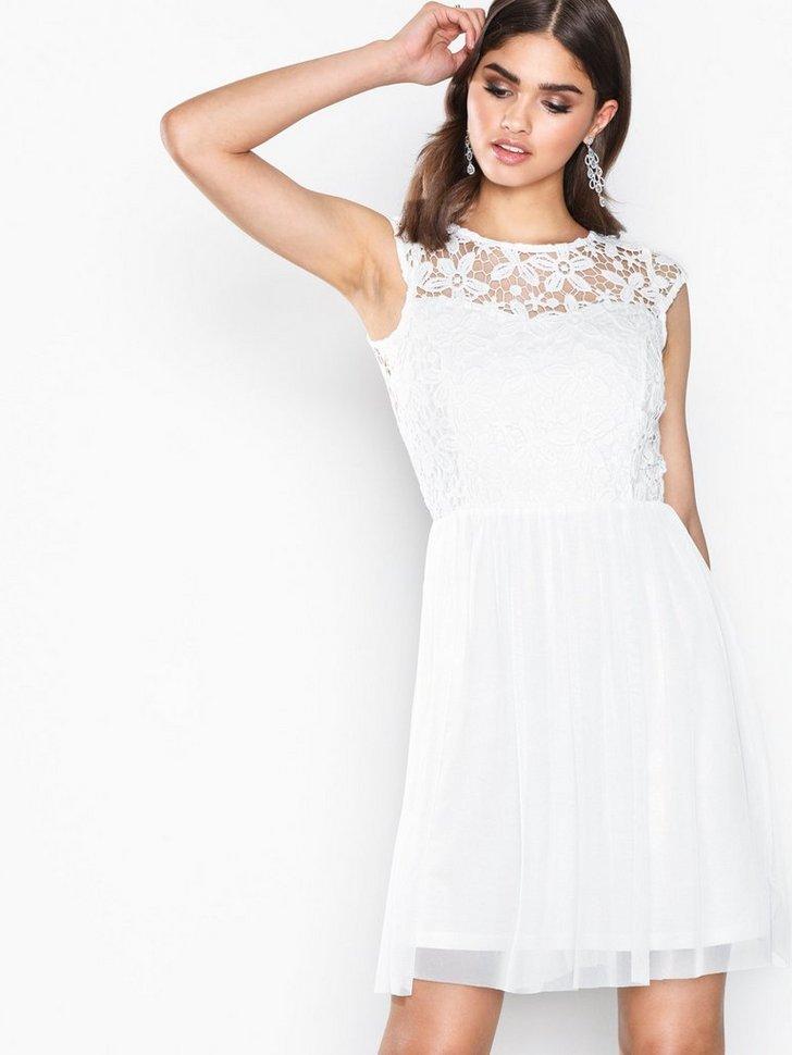 onlCROCHETTA MESH CAPSL DRESS WVN køb festkjole