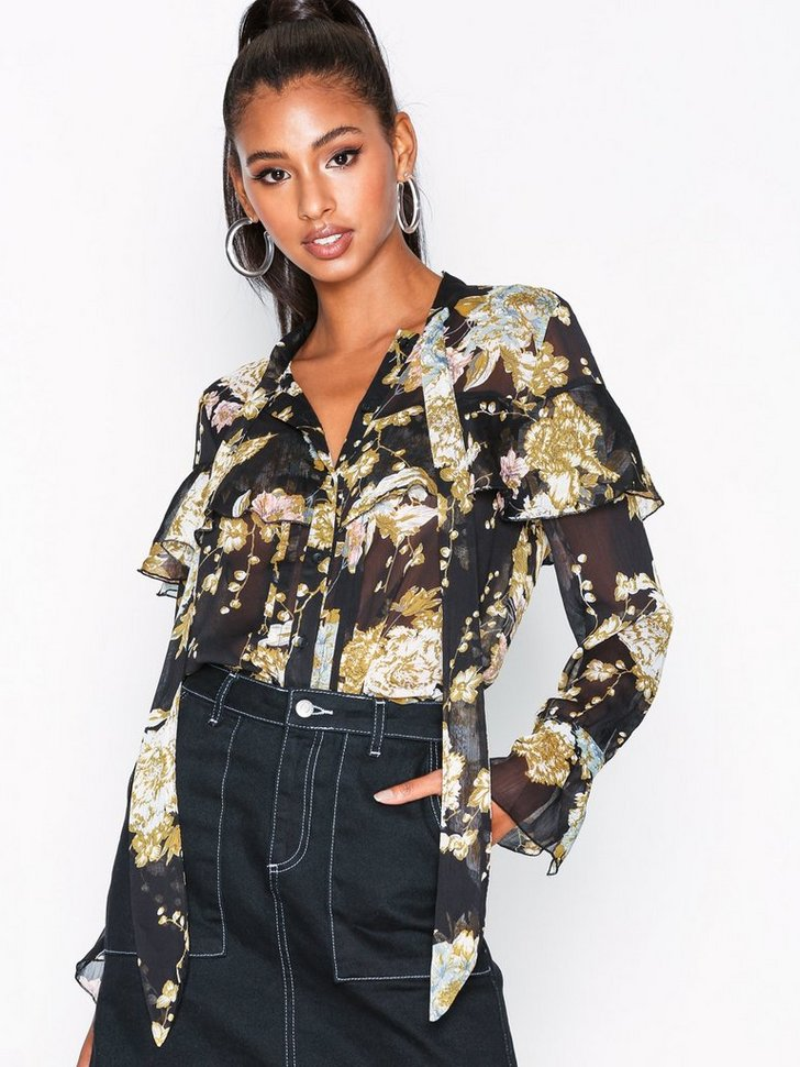 Nelly.com SE - VMTONE L/S FLOWER BLOUSE W BOW EXP 349.00