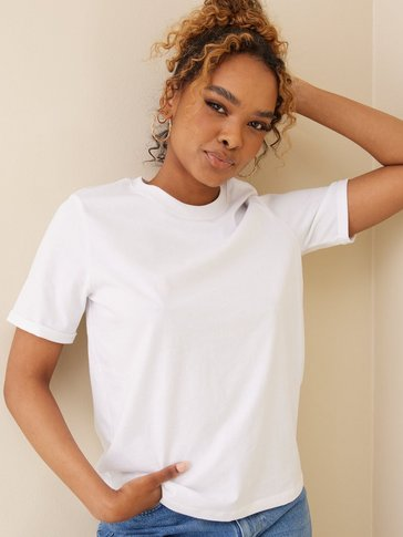 Pieces - PCRIA SS FOLD UP SOLID TEE NOOS