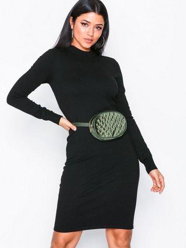 Noisy May - NMCIRUS L/S FUNNEL NECK KNIT DRESS