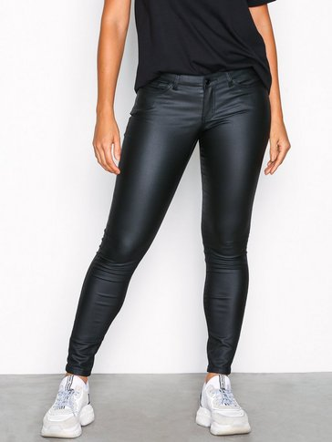 Noisy May - NMEVE LW DELUXE COATED PANTS NOOS
