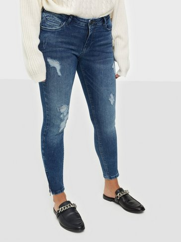 Noisy May - NMKIMMY NW ANKLE ZIP JEANS AZ003MB