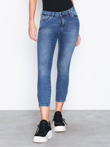 Noisy May - NMKIMMY NW ANKLE ZIP JEANS AZ005MB