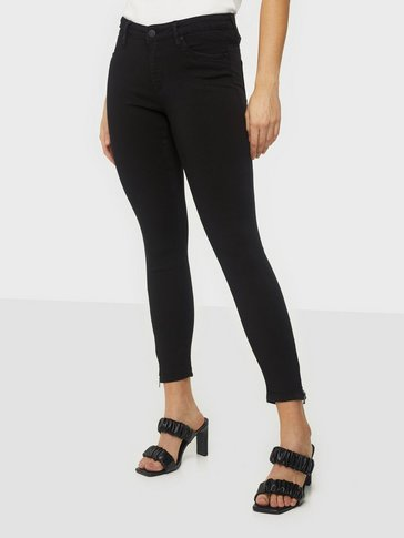 Noisy May - NMKIMMY NW ANKLE ZIP JEANS BLACK NO