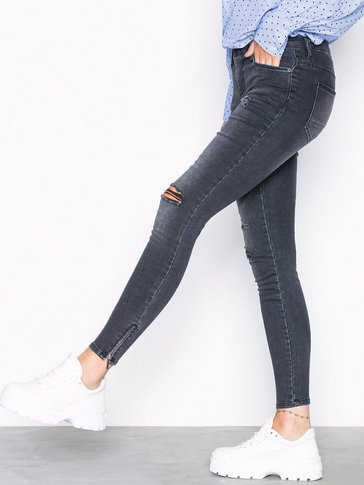 Noisy May - NMKIMMY NW ANKLE ZIP JEANS AZ004MG