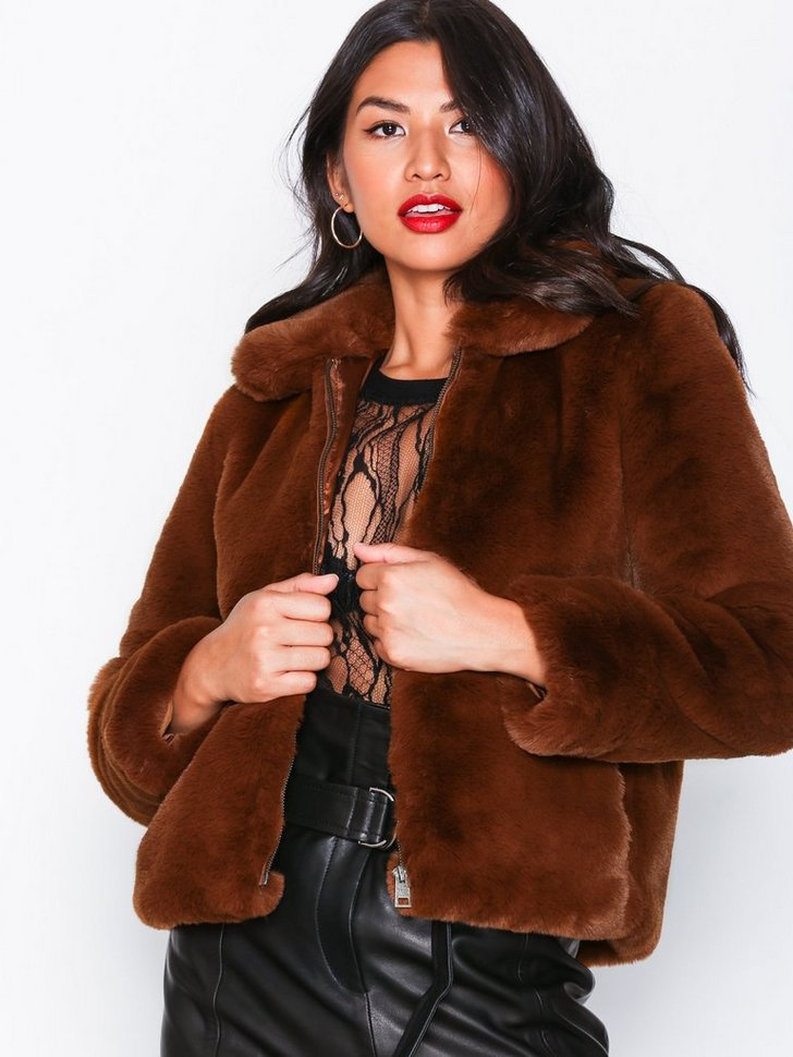 SLFAYA FAUX FUR JACKET B