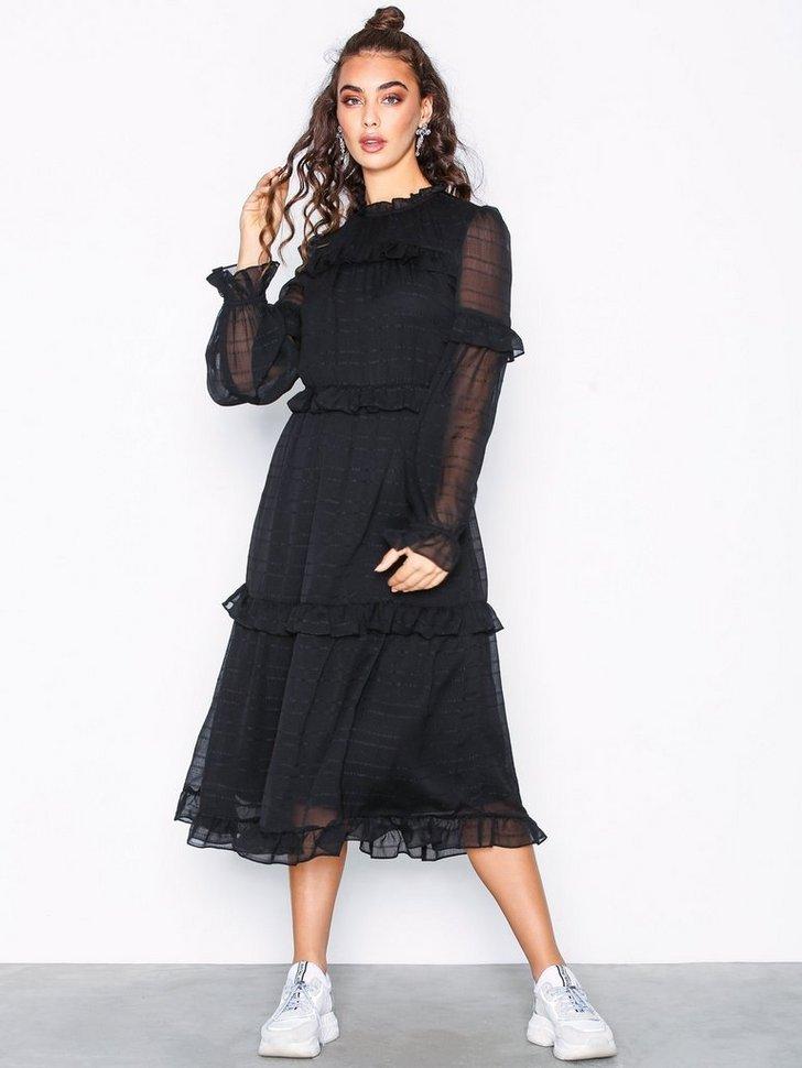 Festkjole VMFIONA LS CALF DRESS festtøj