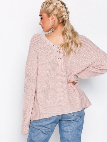 Only - onlPEYTON L/S LACE UP PULLOVER KNT
