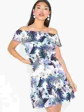 VMEFIE OFF SHOULDER SHORT DRESS