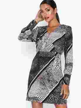 VMISOLDE STRIPE LS SHORT DRESS