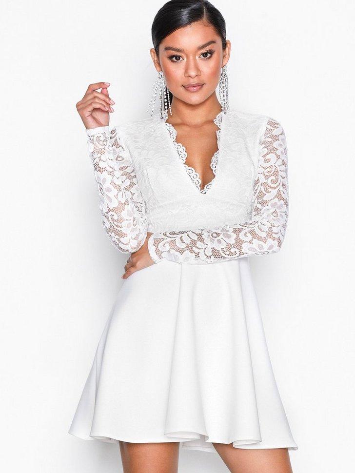 7a51f329563f Cocktailkjole festkjole Lace Top Skater Dress festtøj