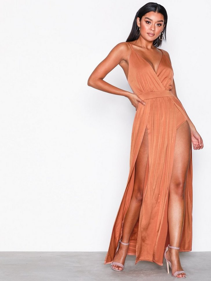 Gallakjole festkjole Double Slit Maxi Dress festtøj