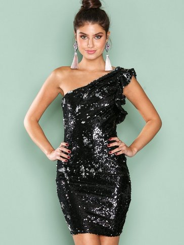 NLY One - One Shoulder Sequin Dress