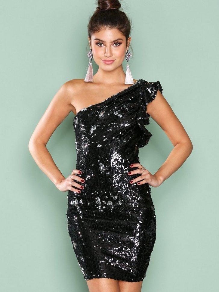One Shoulder Sequin Dress køb festkjole