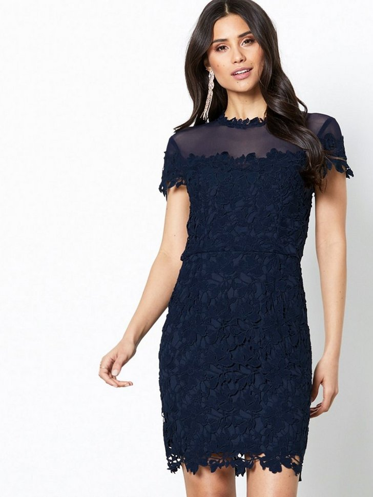 Festkjoler Lace Trim Bodycon Dress - festtøj mode