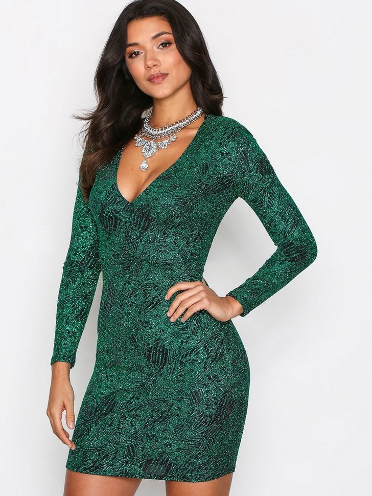 Nelly.com SE - Plunge Glitter Lurex Dress 99.00 (498.00)