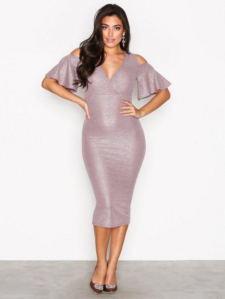 Wrap Bust Midi Dress køb festkjole